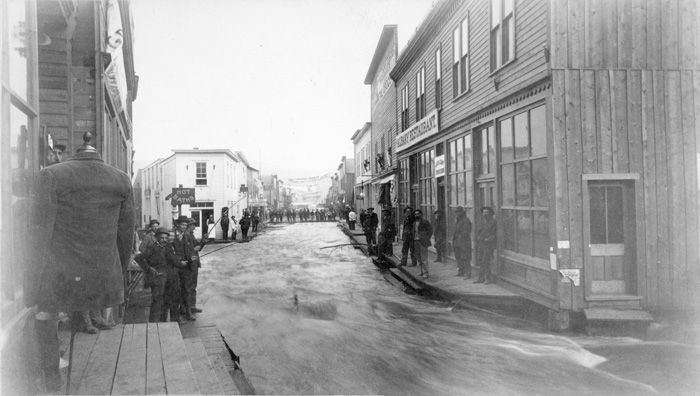 Downtown Creede Flood, 1892 - Creede Historical Society #1307-D-2