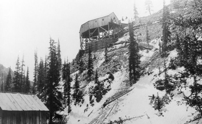 View of Curve Station from Weaver, c1893 - Creede Historical Society #1743-MW-10c4