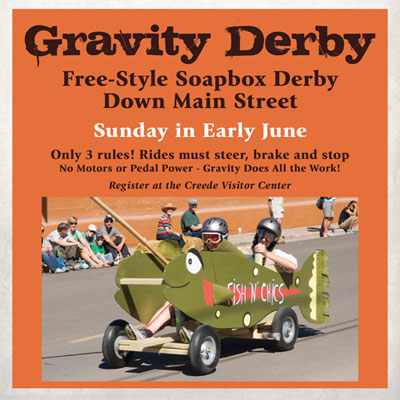 Creede Gravity Derby social