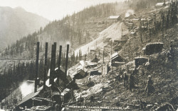 Amethyst & Last Chance Mines, Stumptown, postcard (courtesy the Creede Historical Society 1885-MW-1c4)
