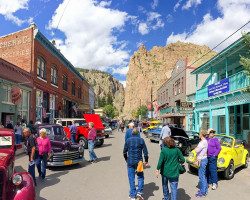 Downtown Creede during the Cruisin' the Canyon Fall Car Show (photo by b4Studio)