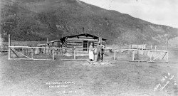 Dr. and Mrs. Faunce at Wetherill Ranch c. 1925 - Creede Historical Society #288-HR-3.1