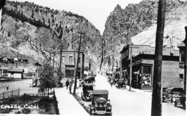 Creede Downtown, c1920 - Creede Historical Society #338-R-24c2