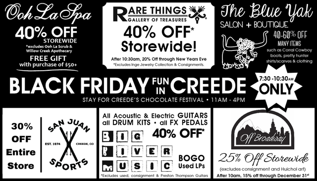Creede Black Friday