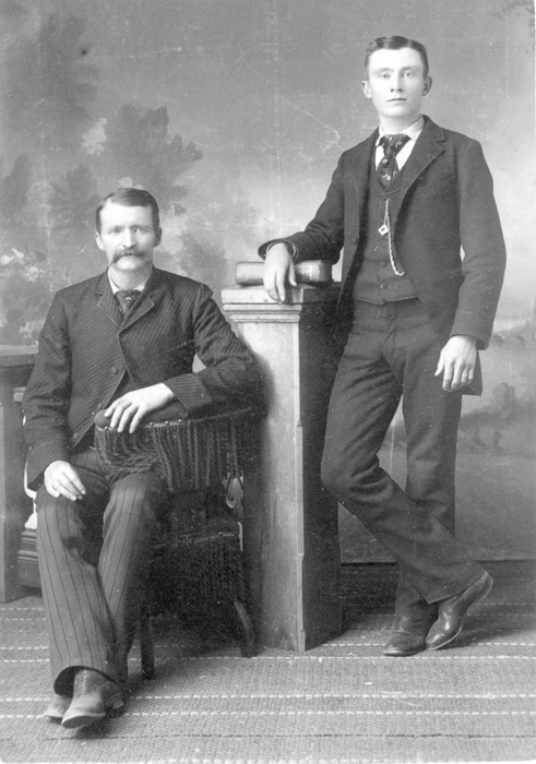Nicholas Creede & Nephew Harvey Lester, 1870 - Creede Historical Society Archive #3069-P-434