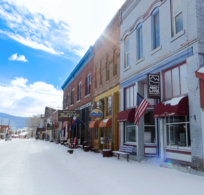 Creede Colorado Mainstreet Winter PhotobyAGale 1